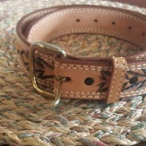 Western Outfitters Durango Colorado leather belt.